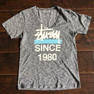 Stussy V-neck T-shirt